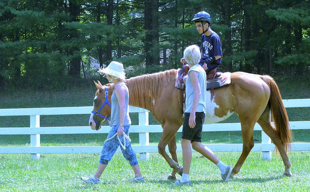 Riding Horses at Camp Anne